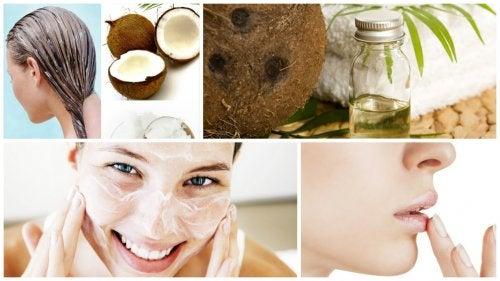aceite de coco para quemaduras y cortes en la cara