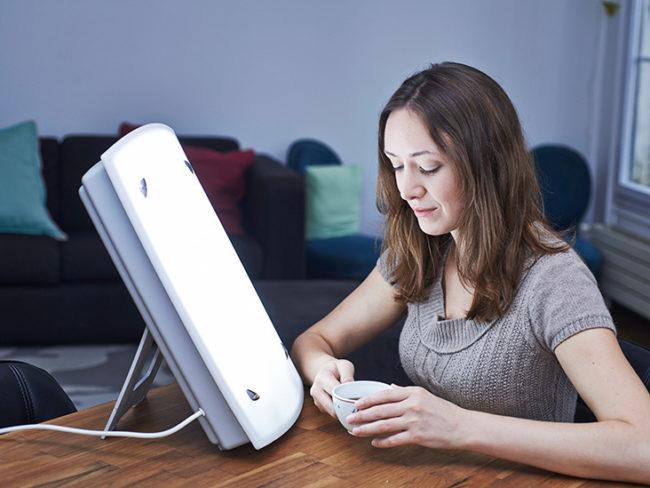 Lámpara de fototerapia para la depresión