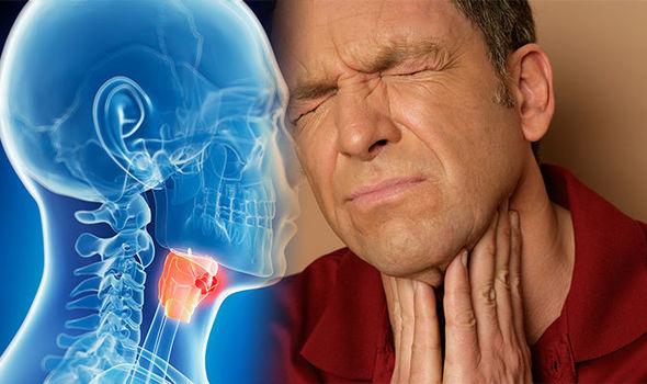 Los síntomas del cáncer de garganta