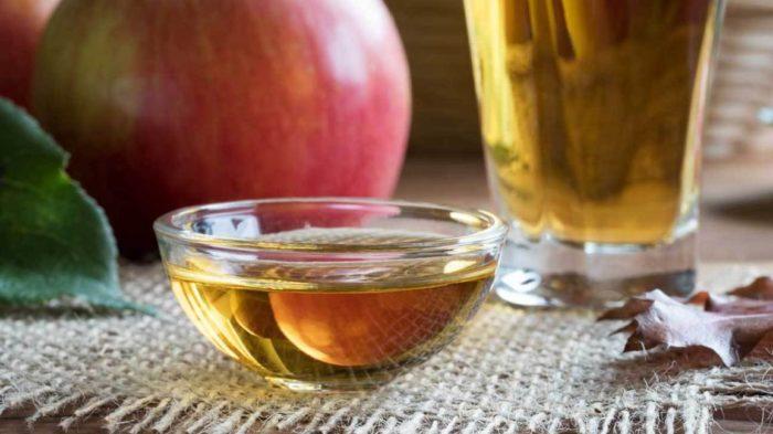 Negativo de vinagre de sidra de manzana
